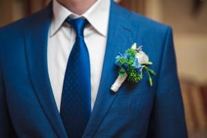 свадебный букет синий голубой