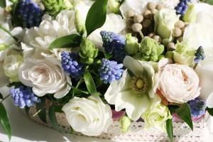 свадебная декорация цветы сердце